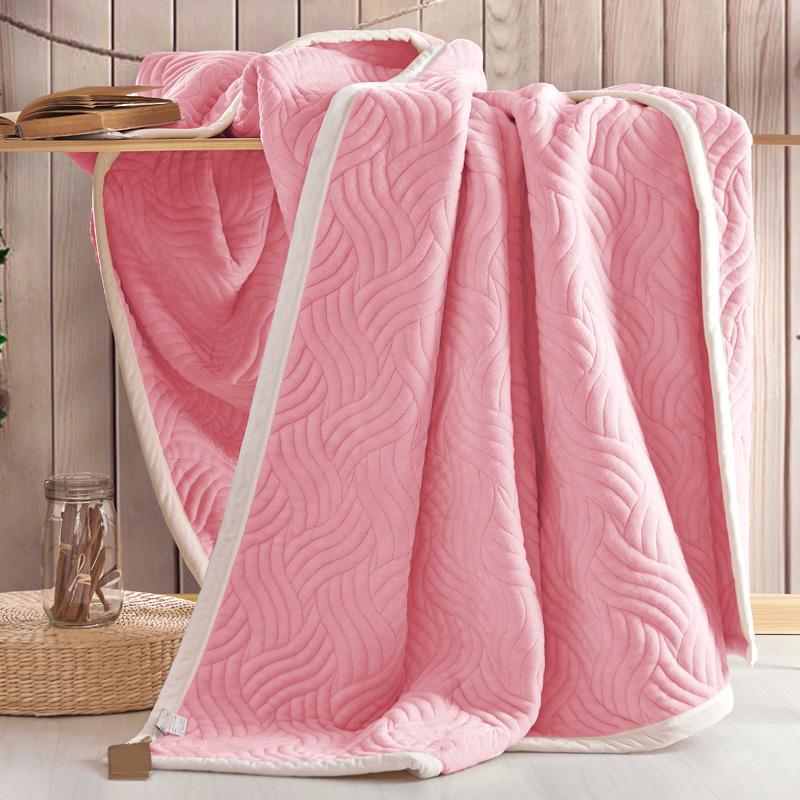 法兰家纺 休闲复合毯三层加厚保暖