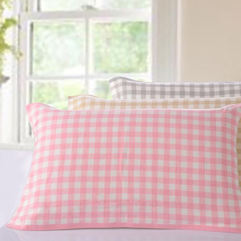 欧式布艺方格枕巾