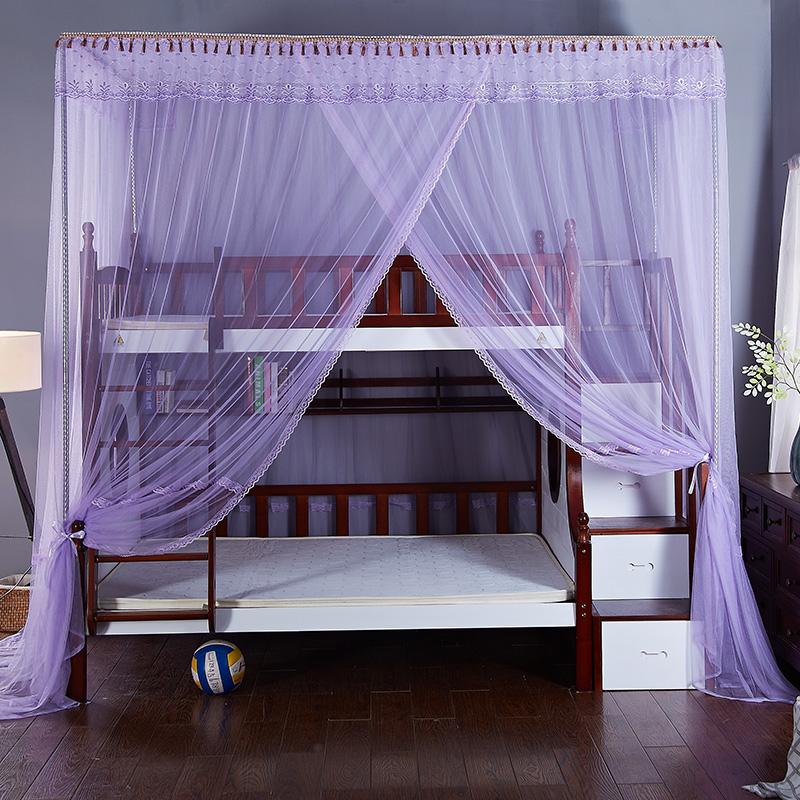 安金蚊帐 新款子母床梯柜格林童话 --紫色