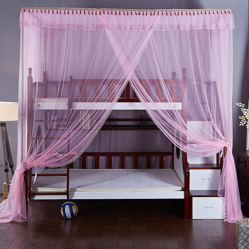 安金蚊帐 新款子母床梯柜格林童话--粉红