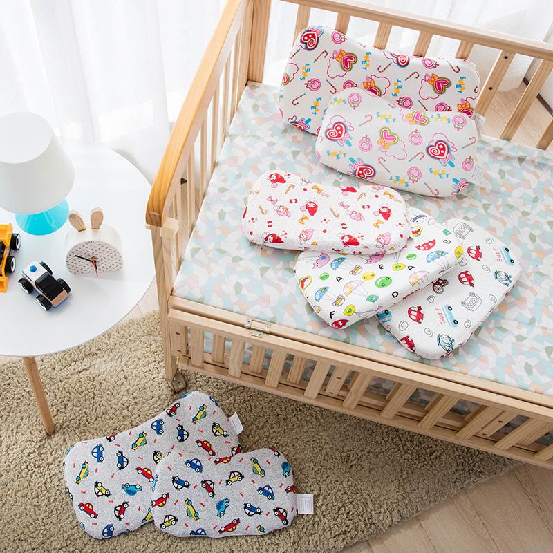 禾木家居 婴儿头型定型枕芯 宝宝超薄记忆枕头 大号