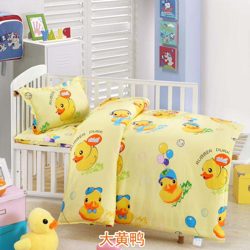 五星家纺 儿童卡通床品2017新版升级幼儿园三件套六件套 被子床垫