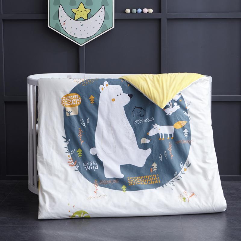 御棉坊棉加绒加厚保暖水晶绒幼儿园儿童被子 多功能被套被芯冬被