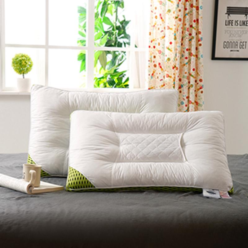 她喜爱 全棉防雨布纤维枕-唯美 3D立体透气网纤维枕