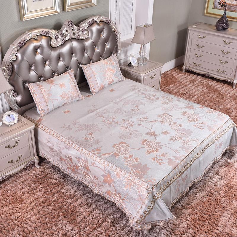 (总)新款凉席 蕾丝床裙加床笠 可水洗床单冰丝席三件套-恩多拉