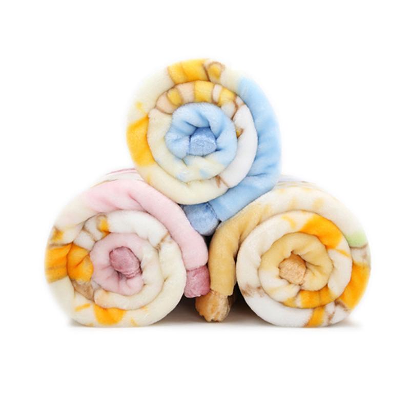 金贝壳新生儿小毛毯加厚拉舍尔膝盖毯双层婴儿抱毯宝宝午睡毯