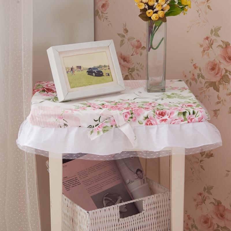 【赞美家纺】韩式床品配套床头柜罩-爱丁堡玫瑰粉