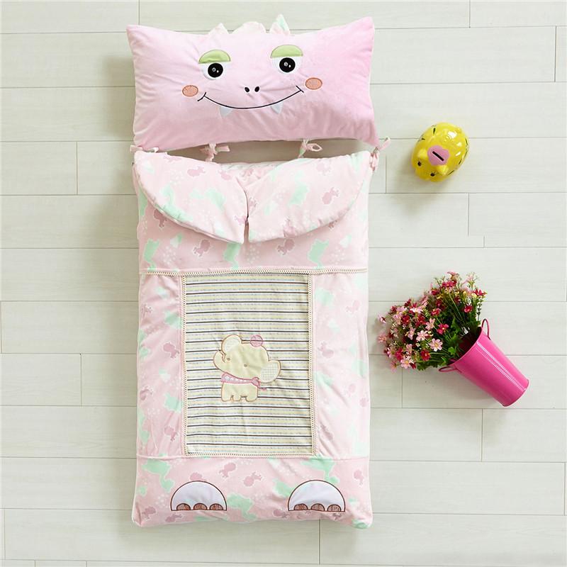 铭轩家纺 恐龙水晶绒保暖婴童睡袋 儿童防踢被 婴幼儿针织棉抱被