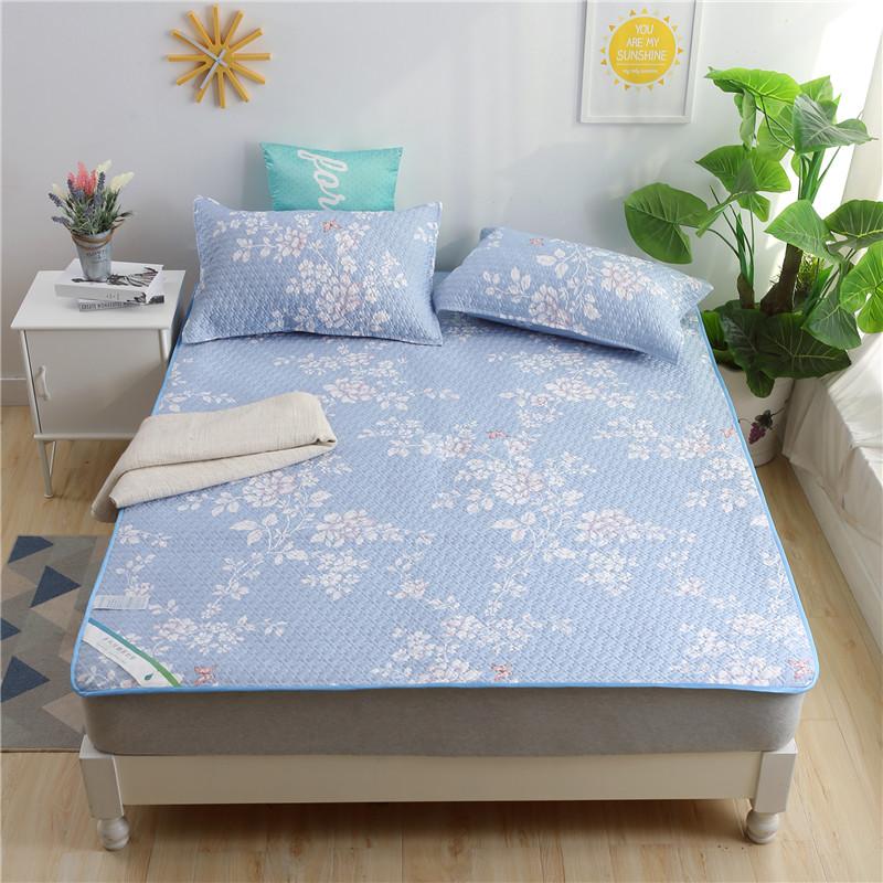 天艺床垫 2017年新品天丝软垫三件套 缤纷(蓝)