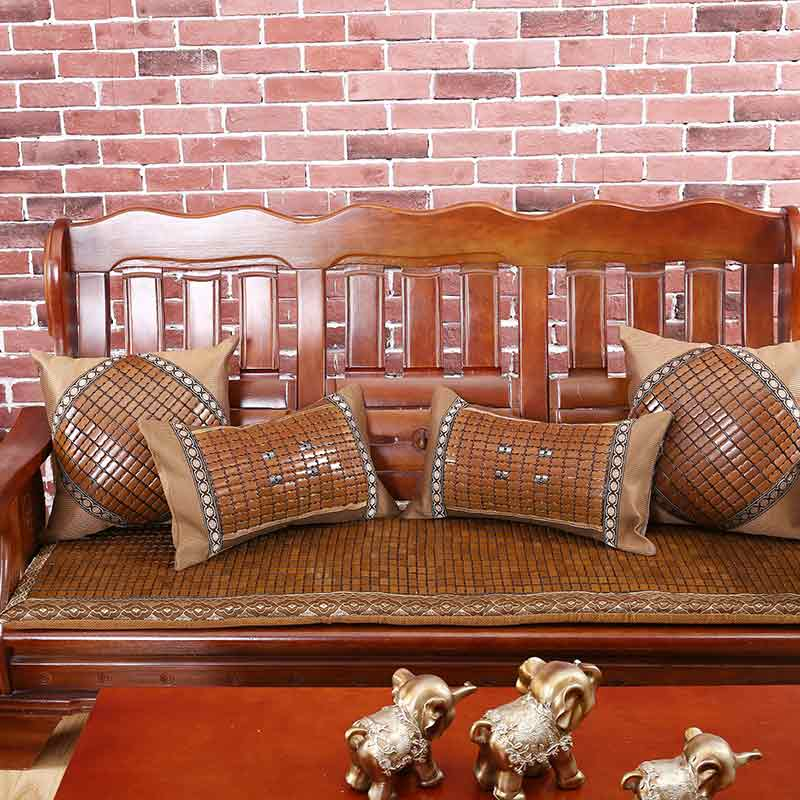 麻将实木沙发垫红木沙发坐垫麻将凉垫竹垫防滑加厚海绵坐垫餐椅垫