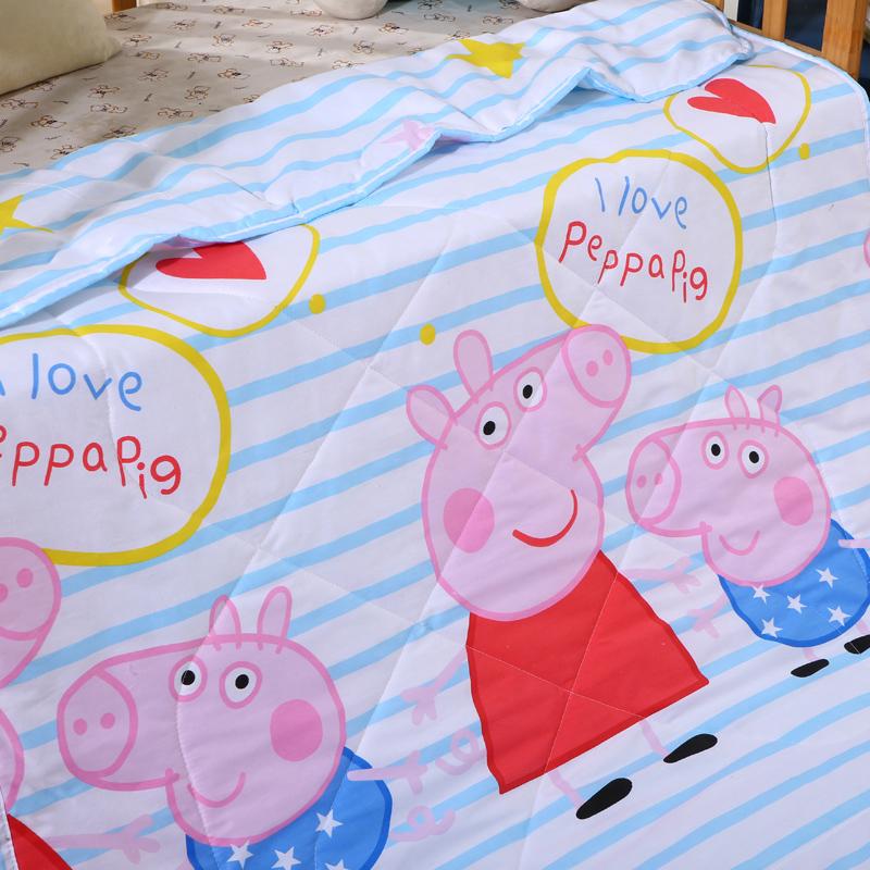 小猪佩奇夏被 纯棉 儿童夏凉被 空调被 幼儿园被子 夏