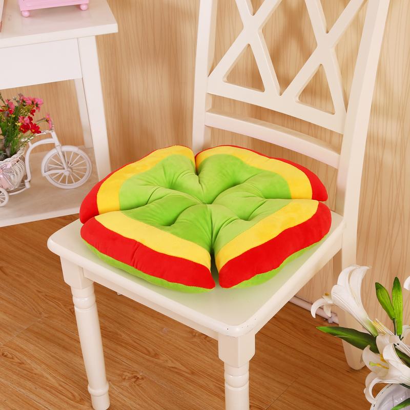 彩虹四叶草坐垫 椅垫 榻榻米垫子